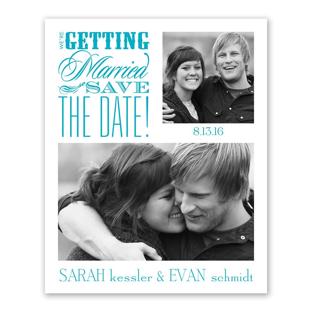 beautiful words save the date card