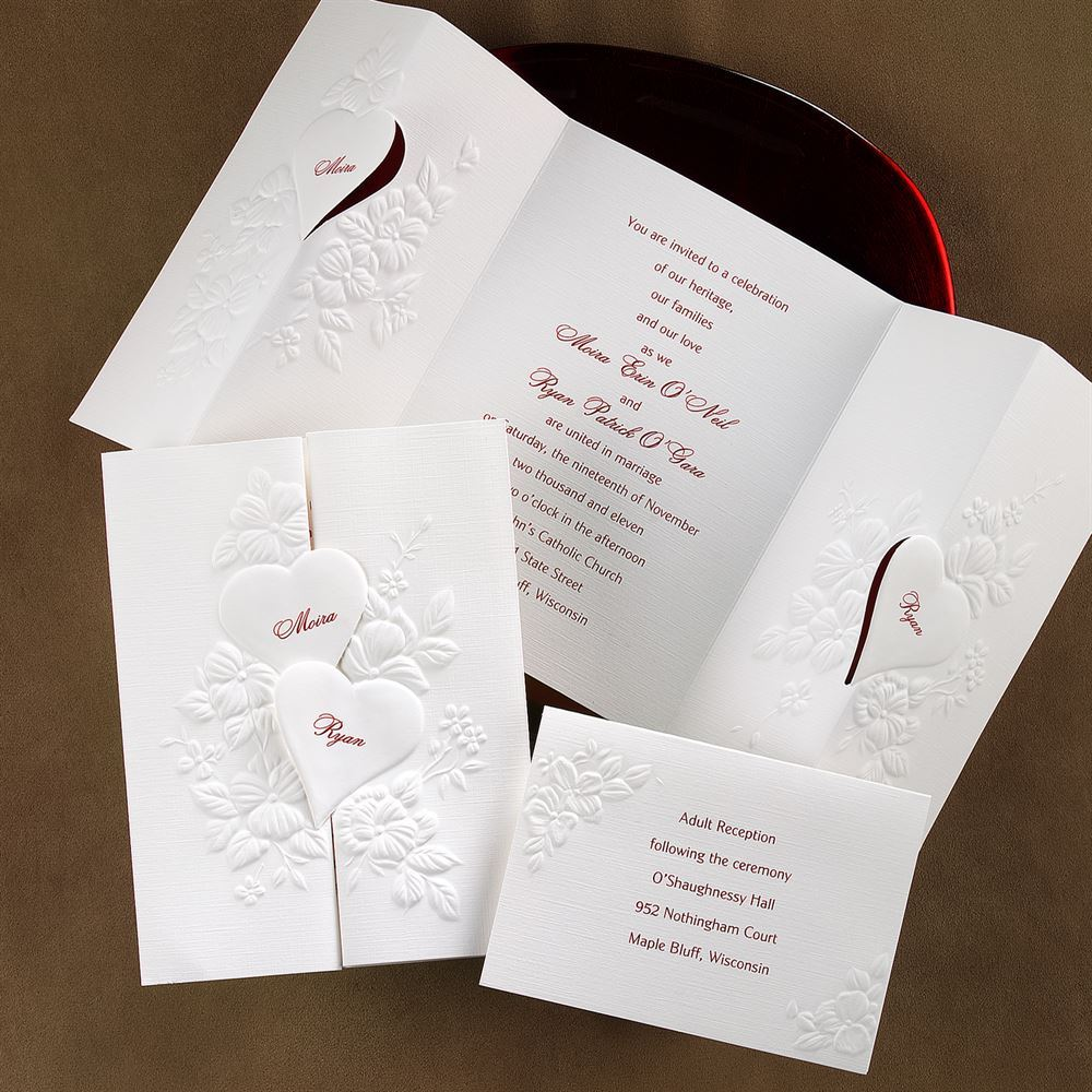wedding invitations with hearts - Yeni.mescale.co